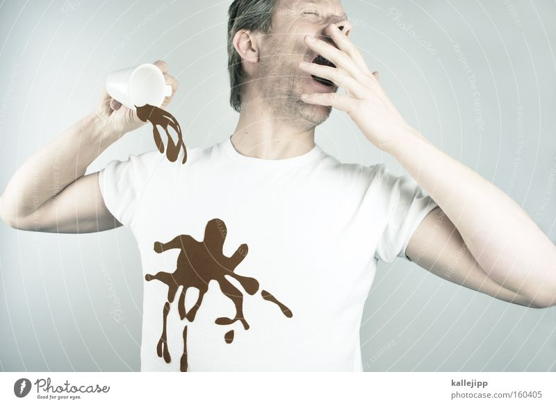 Humor Sadness Dirty Coffee Drinking Fatigue Cup Patch Disaster Beverage Comic Joke Wake up Meal Detergent Yawn