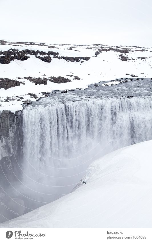 dettifoss. Vacation & Travel Tourism Trip Adventure Far-off places Freedom Sightseeing Expedition Winter Snow Winter vacation Environment Nature Landscape