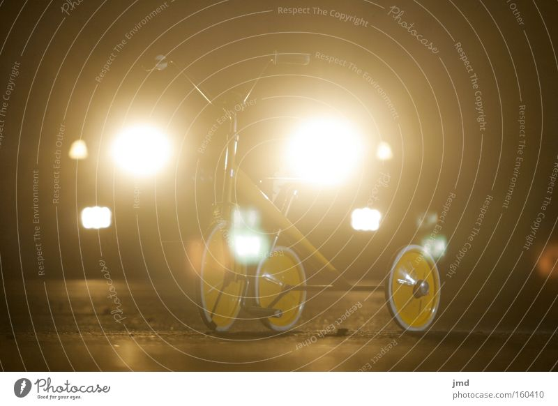 Car Moody Grief Motor vehicle Dangerous Driving Force Infancy Night Floodlight Feeble Ambiguous Tricycle Subtle