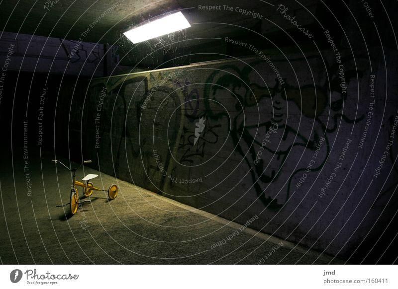 Dark Graffiti Dangerous Force Infancy Feeble Eerie Ambiguous Spooky Vanished Tricycle Subtle