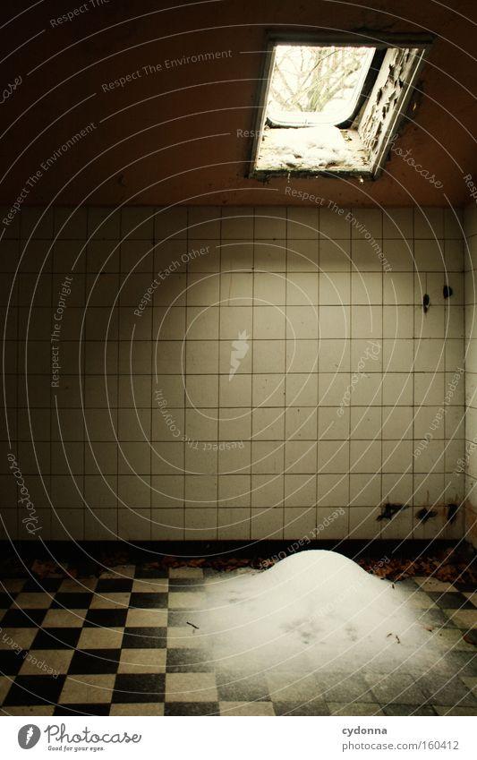Winter Window Snow Life Time Room Transience Intoxicant Bathroom Derelict Tile Decline Location Destruction Memory Vacancy