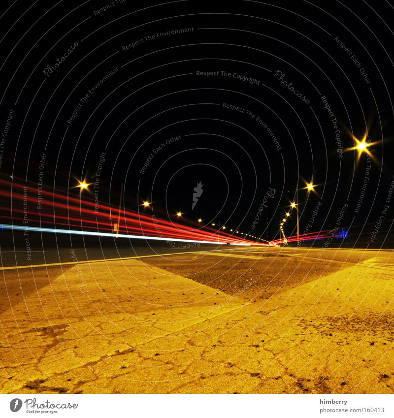 speed of night Transport Speed Street Logistics Lighting Highway Racing sports Motorsports Street lighting Driving Long exposure