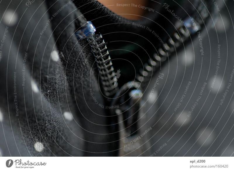 Zippo Zipper Jacket Macro (Extreme close-up) Top Point Black Vest T-shirt Neck Chest Near Close-up