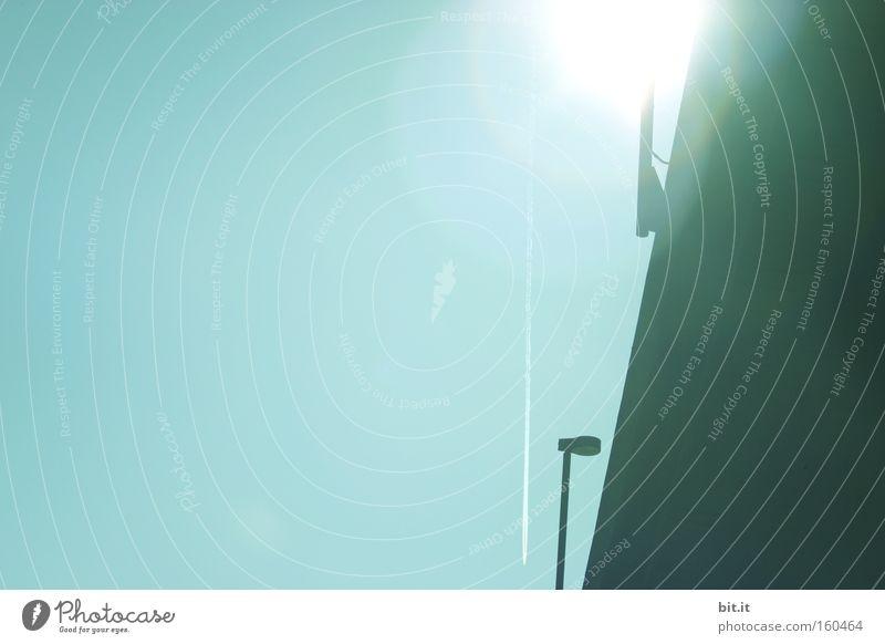 Sky Blue Sun Summer Architecture Moody Background picture Glittering Modern Bridge Future Hope Lantern Optimism Basel
