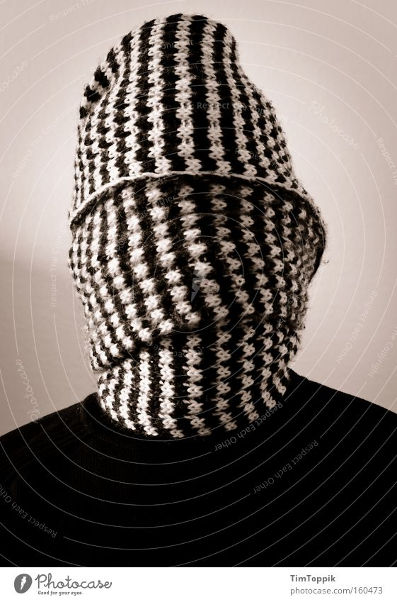 Man Mysterious Anonymous Scarf Blind Hidden Terror Kidnap Wrap up warm Masked Unidentified Envelop Laminate Unrecognizable Hostage