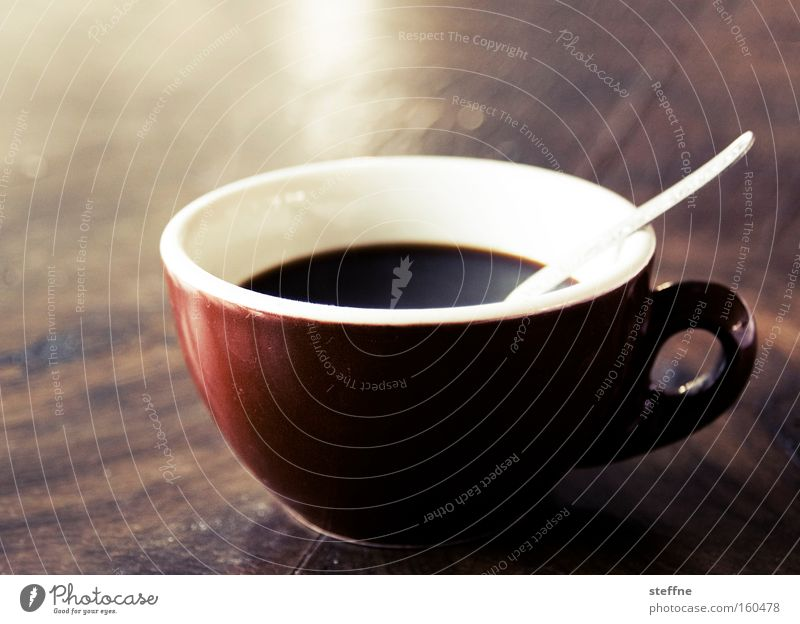 And now for coffee. Coffee Caffeine Alert Coffee cup Spoon Table Espresso Cappuccino Wake up stimulate Energy industry coffee junkie Drinking