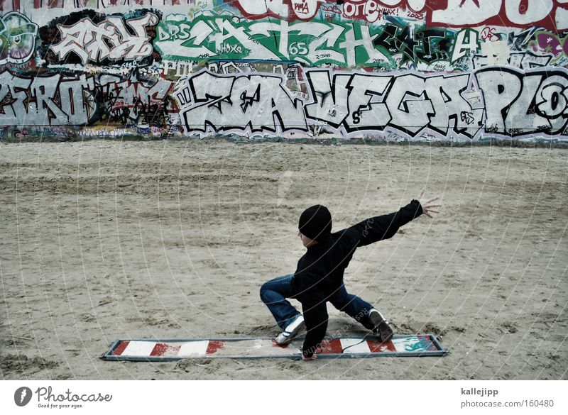 City Graffiti Wall (barrier) Characters Communicate Telecommunications Document Wooden board Surfing Surfer Freestyle Funsport