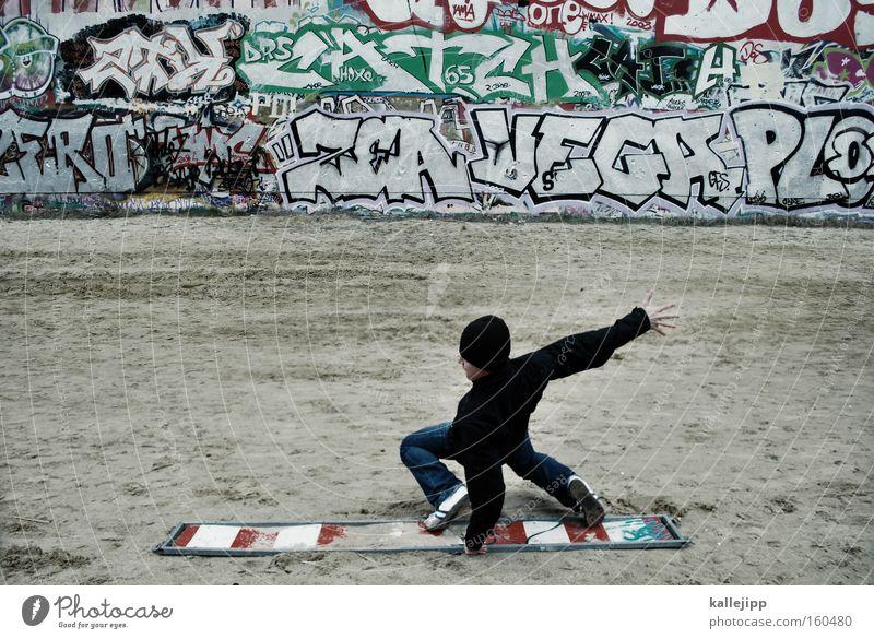 flatrate surfing Surfer Freestyle Wall (barrier) Graffiti Town Communicate Telecommunications Characters Document Funsport board Wooden board scrappage bonus