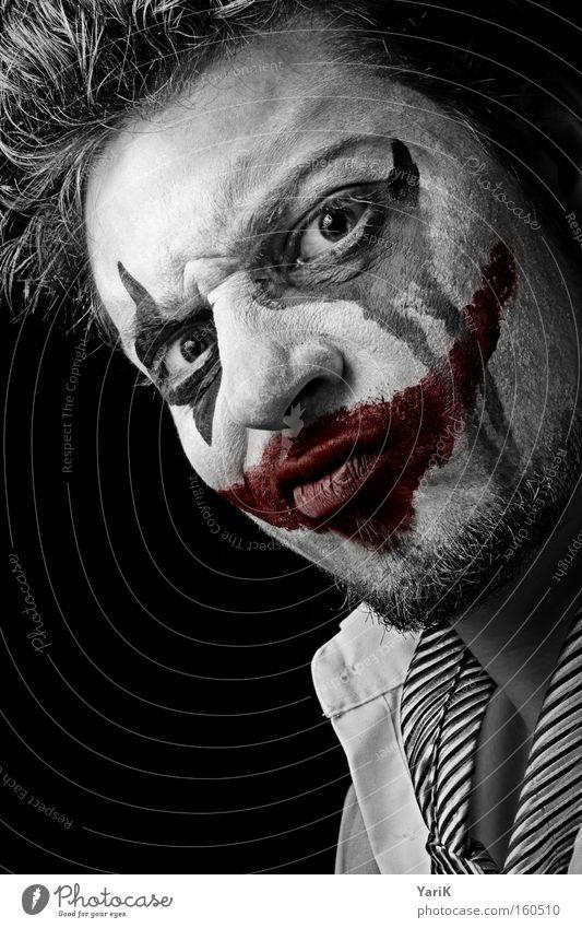Red Face Black Eyes Dark Criminal Acrobat Sadness Mouth Grief Mask Carnival Anger Make-up Evil Aggravation
