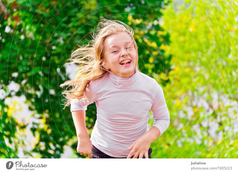 Cute running girl in summer Lifestyle Relaxation Leisure and hobbies Playing Summer Dance Sports Child Schoolchild Girl Woman Adults Infancy 1 Human being