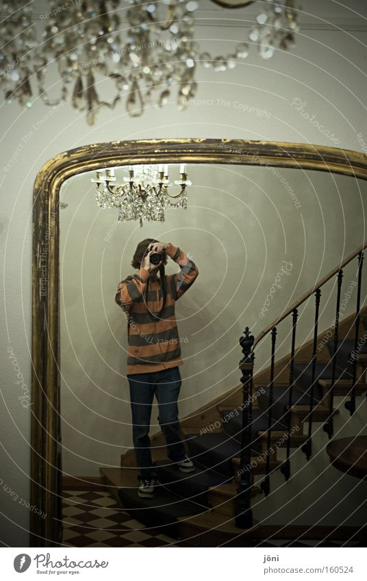 take royal photographs Palace Rich Chandelier Stairs Staircase (Hallway) Photographer Mirror Heavenly Large Old building Human being Lighting Ancient Precious