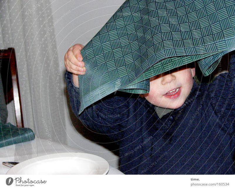 Child White Joy Boy (child) Movement Small Laughter Chair Gastronomy Restaurant Appetite Plate Curtain Serviette