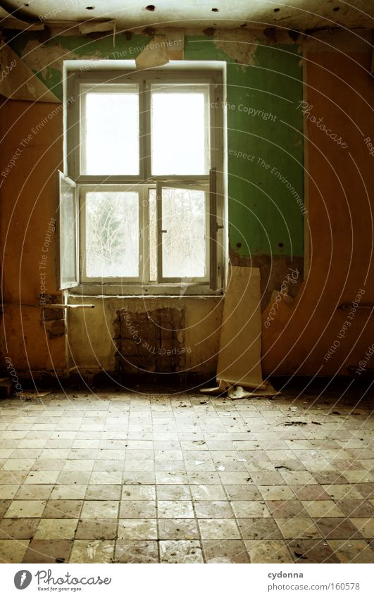 Old Life Window Room Time Open Living or residing Transience Tile Wallpaper Derelict Decline Destruction Memory Location Vacancy