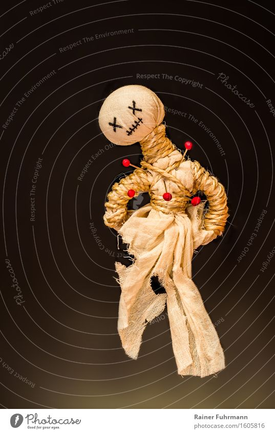 Ouch! - said the voodoo doll Exotic Hallowe'en Puppet theater Creepy Lovesickness Anger Animosity Revenge Relationship Colour photo Studio shot