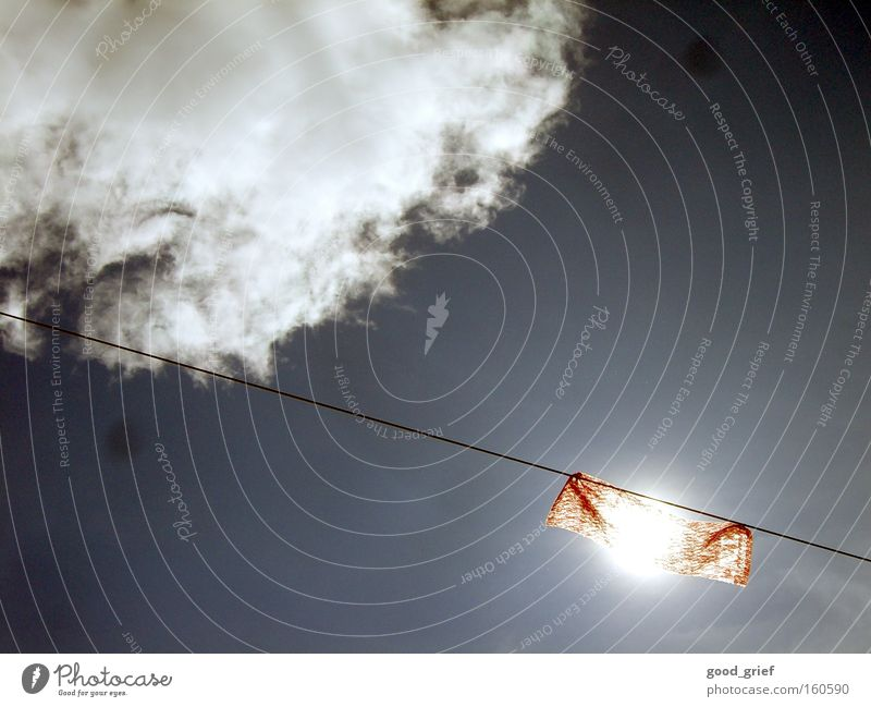 Sky Sun Red Clouds Wind Cloth Wire Dazzle Wire cable