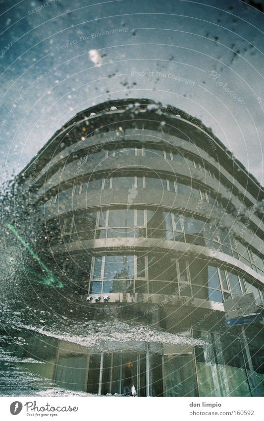 country House (Residential Structure) Hotel Building High-rise Puddle Asphalt Street Wet Reflection Andorra Analog