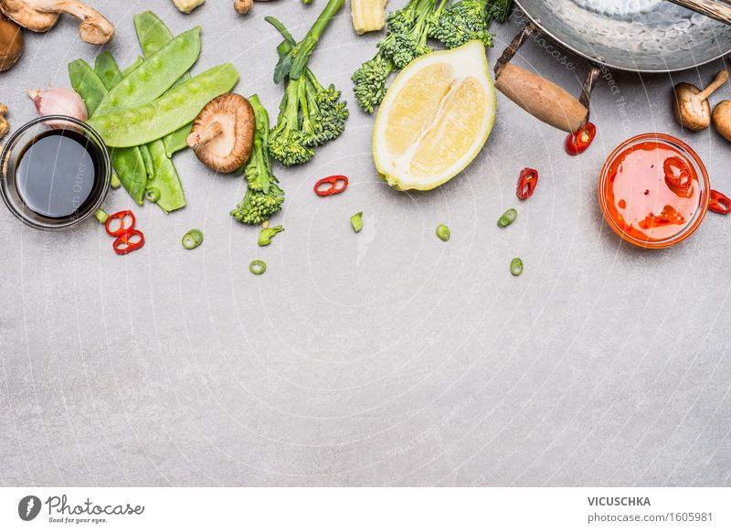 Vegetable Ingredients for Asian Cuisine Food Herbs and spices Cooking oil Nutrition Lunch Buffet Brunch Banquet Organic produce Vegetarian diet Diet Asian Food