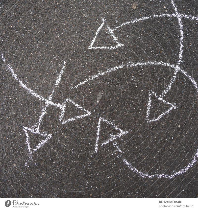 Movement Line Round Asphalt Arrow Painted Arrow Dynamics Rotate Muddled Drawing Chalk
