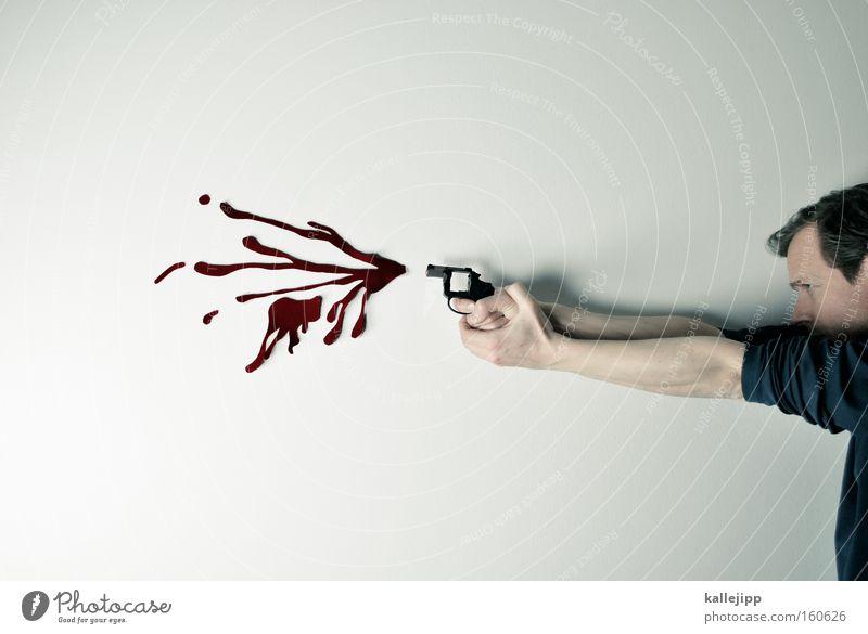 Human being Man Target Force Obscure Playing Blood Literature Criminality Comic Aim Weapon Handgun Murder Shot Fraud
