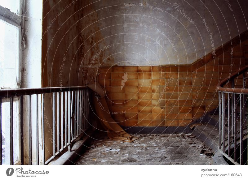 Old Life Window Sadness Room Time Stairs Living or residing Transience Tile Derelict Decline Banister Destruction Memory Location