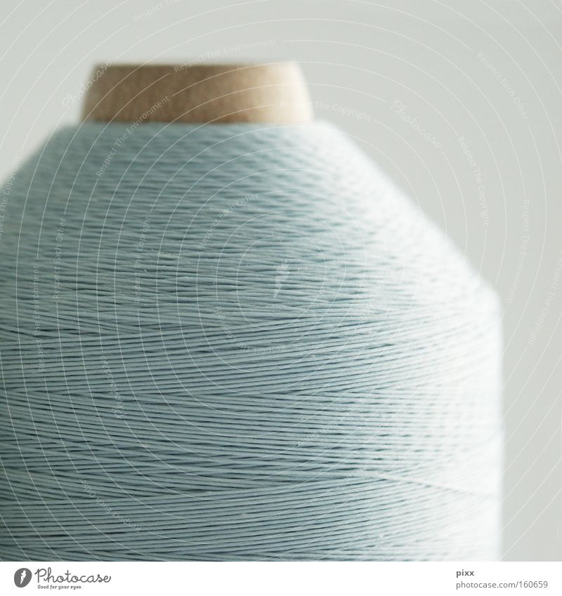 Wood Bright Art Arrangement Culture String Connection Craft (trade) Creativity Coil Sewing thread Wool Arts and crafts  Light blue Dry goods