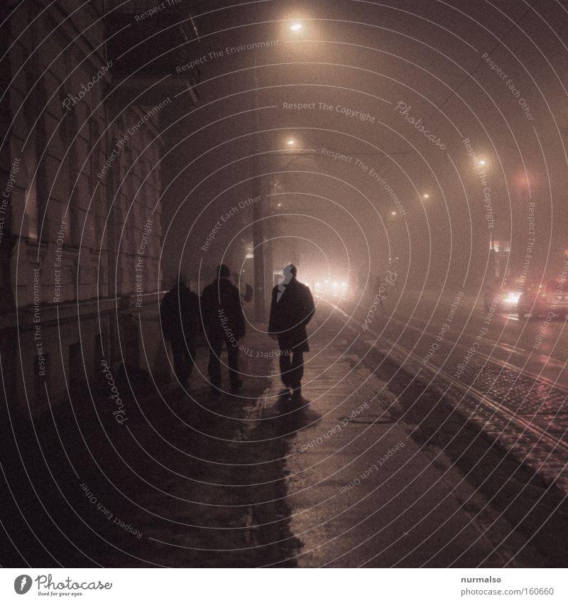 Human being Winter Cold Berlin Night Fear Lighting Creepy Club Lantern Traffic infrastructure Traffic light Novella Tram Detective novel Potsdam