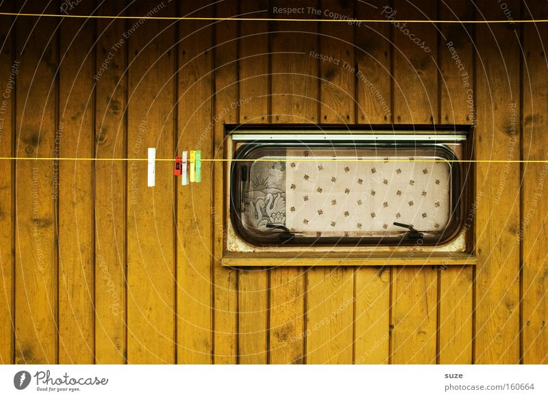 Old Loneliness Window Retro Living or residing Camping Drape Curtain Laundry Holder Clothesline Modest Caravan Wooden wall Clothes peg Wooden house