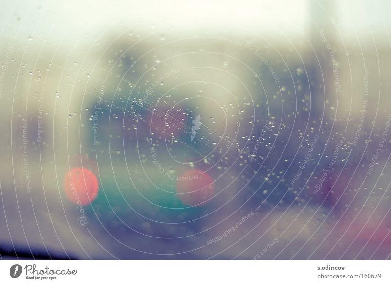 BlurBus Colour Lomography Transport Street Rain Glass drops soft light