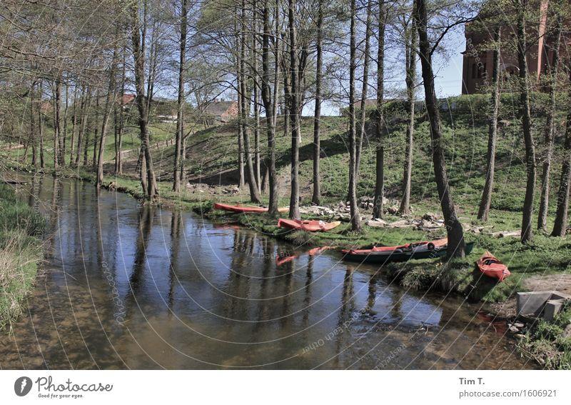 paddling Leisure and hobbies Paddling Vacation & Travel Trip Adventure Freedom Camping Summer River bank Drawa Village Poland Brook May Canoe Rowboat
