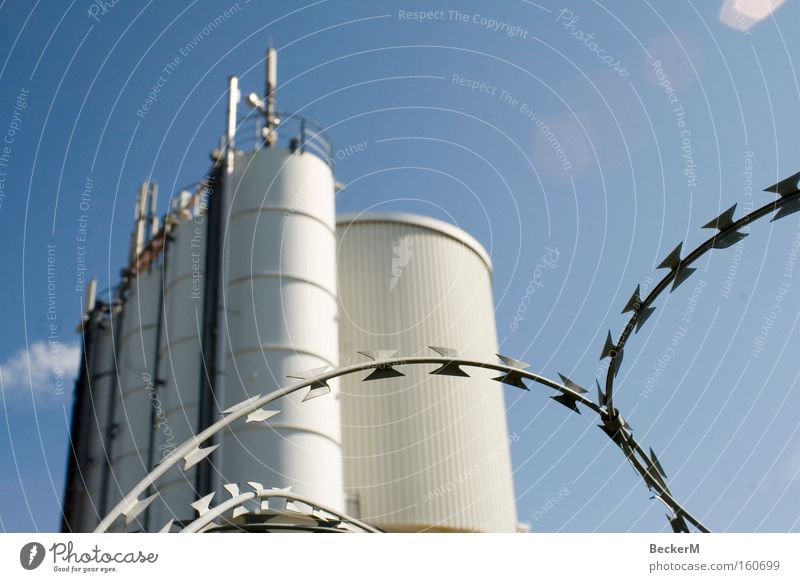 White Blue Work and employment Building Industry Safety Round Beautiful weather Barrier Wire Rescue Barbed wire Works
