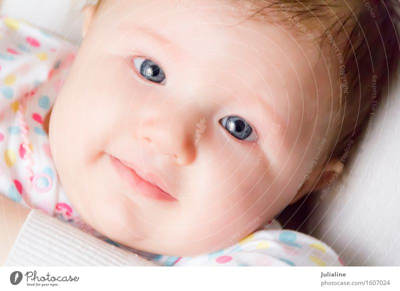 Photo of the beautiful cute newborn Child Human being Baby Girl Boy (child) Woman Adults 1 0 - 12 months White Newborn kid two Month one year First Caucasian