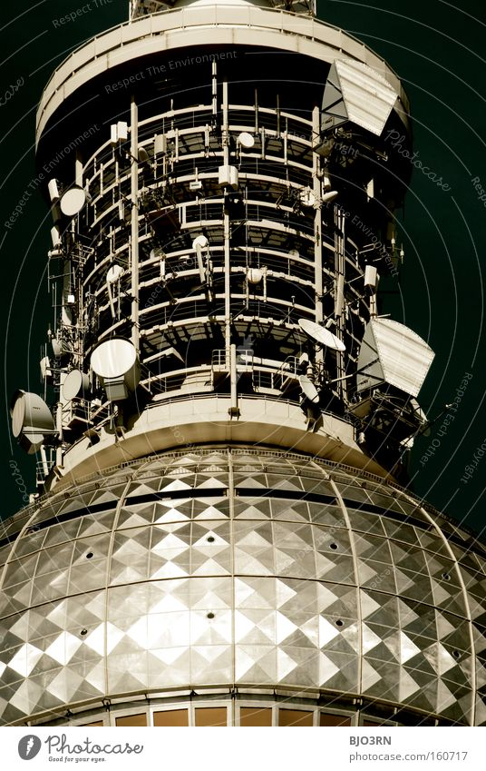 Berlin Technology Communicate Television Telecommunications Tower Media Radiation Technique photograph Radio (broadcasting) Antenna Berlin TV Tower