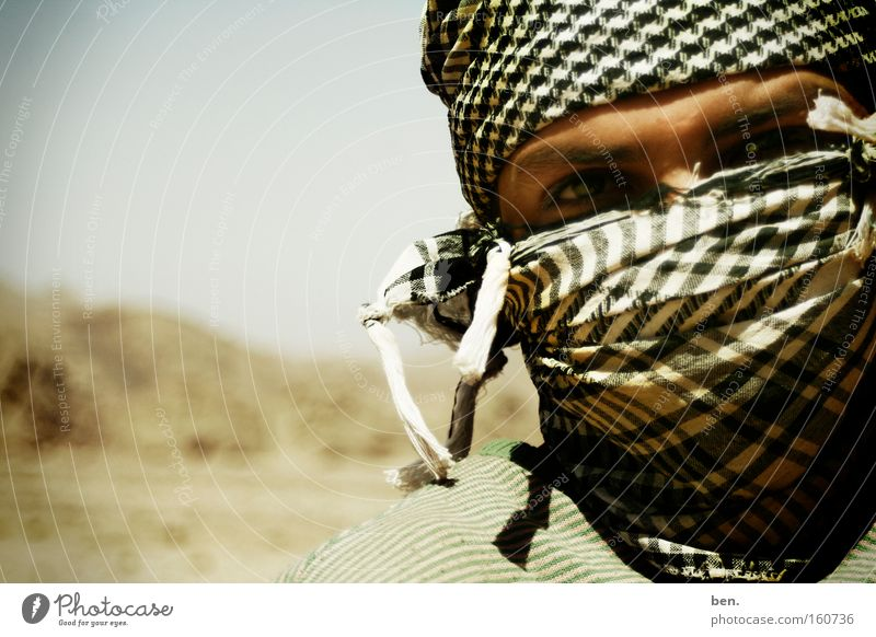 Sinai Portrait photograph Scarf Desert Mount Sinai Dust Mask Wrap up warm Masked Packaged Face Eyes Islam Near and Middle East Culture Africa Palestine