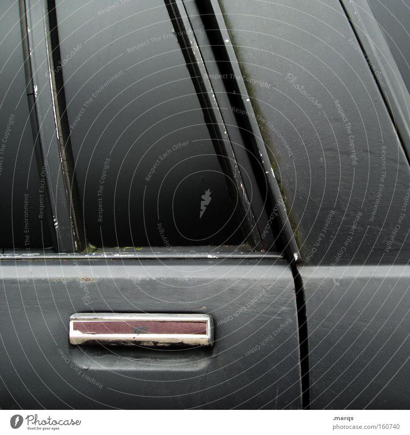 Karre Old Black Car Metal Door Transport Grief Motor vehicle Logistics Longing Exceptional Decline Distress Mobility Motoring Vehicle