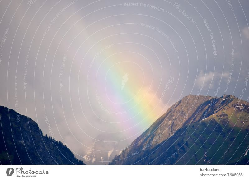 Transcendence | Start and End Nature Landscape Elements Earth Air Sky Clouds Climate Weather Alps Mountain Rainbow Illuminate Multicoloured Moody Colour Senses