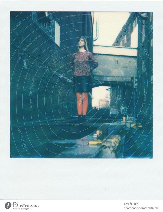 Human being Woman Red Dark Adults Wall (building) Life Feminine Building Wall (barrier) Legs Friendship Dirty Body Power Gloomy