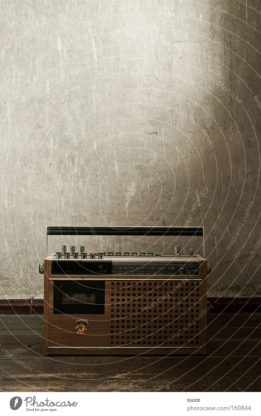 radio star Wallpaper Music Radio (broadcasting) Radio (device) Wall (barrier) Wall (building) Listening Old Retro Brown Nostalgia Iconic GDR Broacaster