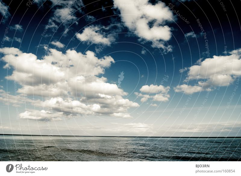 breathing therapy Air Oxygen Water Freedom Sky Clouds Ocean Lake Blue Reflection Waves Relaxation Baltic Sea Rügen Landscape format Exterior shot