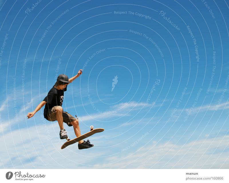 Sky Blue Summer Joy Sports Life Jump Style Movement Freedom Happy Healthy Arm Flying Success Tall