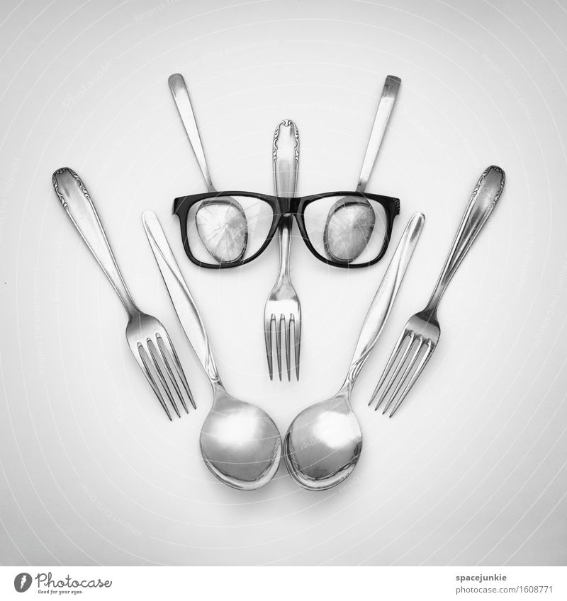 Cold Sadness Funny Exceptional Metal Threat Cute Eyeglasses Universe Technique photograph Creepy Whimsical Humor Spoon Nerdy Fork