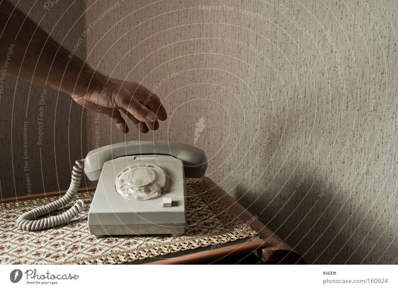 Human being Old Hand Flat (apartment) Arm Living or residing Fingers Telephone Communicate Telecommunications Retro Contact Past Wallpaper GDR Blanket