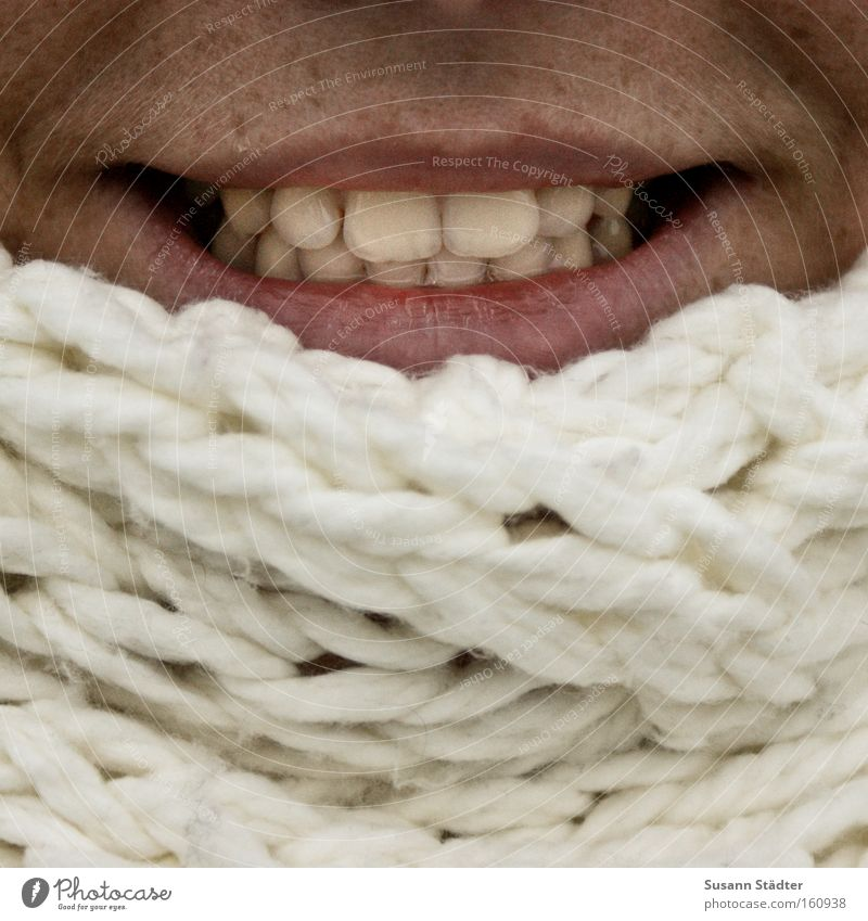 ball of wool Wool Mouth Lips Teeth White Pallid Skin Tanning bed Winter Freeze Cold Packaged Scarf Cap Attract PhotoSuse freckles
