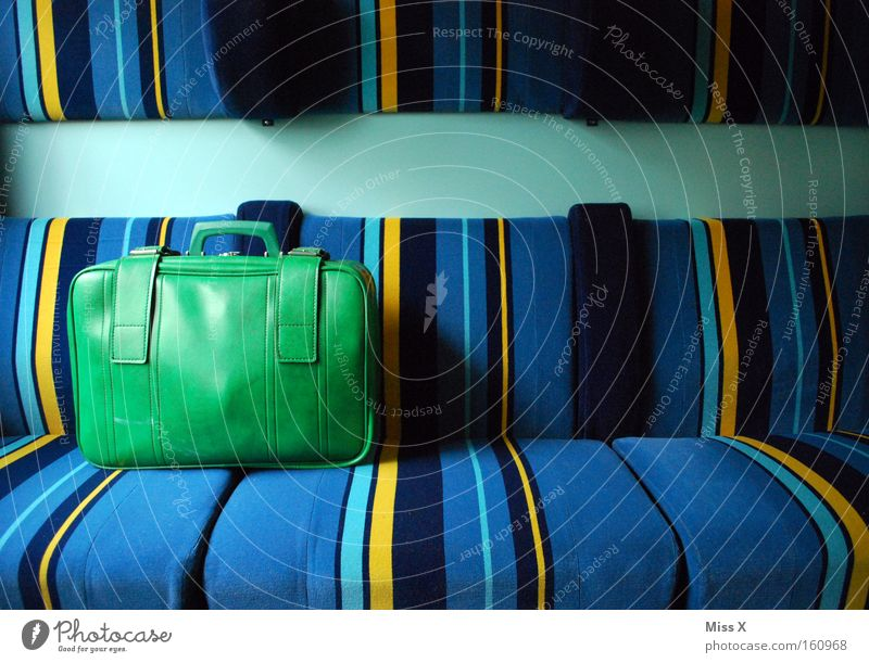 Old Green Blue Vacation & Travel Yellow Lanes & trails Line Trip Transport Railroad Stripe Cloth Driving Underground Multicoloured Train station