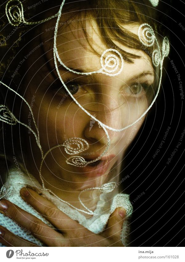 Human being Woman Face Adults Eyes Emotions Feminine Exceptional Moody Air Fear Uniqueness Fear of death Claustrophobia Ghosts & Spectres  Stress