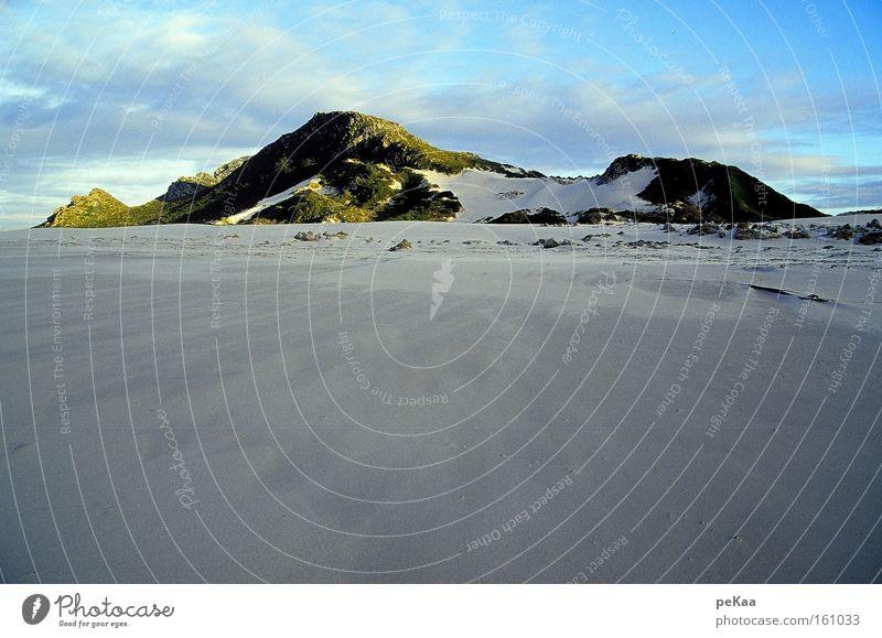Beach Calm Far-off places Movement Freedom Dream Sand Coast Rock Africa Beach dune Dusk Blue sky