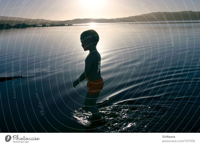 Child Vacation & Travel Water Summer Sun Joy Life Playing Boy (child) Infancy Contentment Joie de vivre (Vitality) Innocent Sunset Meaning