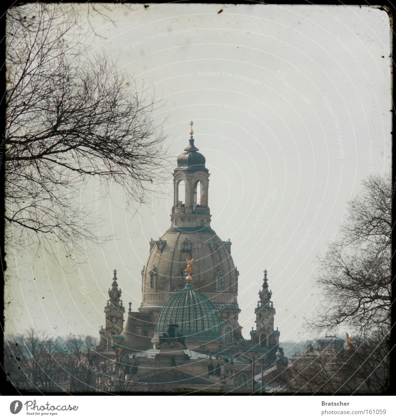 Kirchentag 2011: in Dresden! Architecture Landmark Monument Hope Frauenkirche New market Baroque Renewal House of worship Colour photo Subdued colour