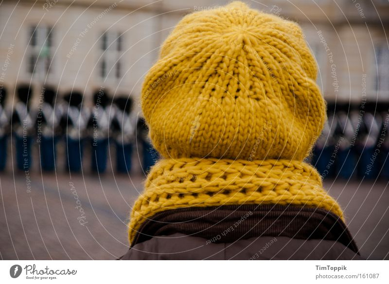 Winter Cold Clothing Hat Cap Soldier Scarf Scandinavia Denmark Wool Military Knit March Copenhagen Guard Baseball cap