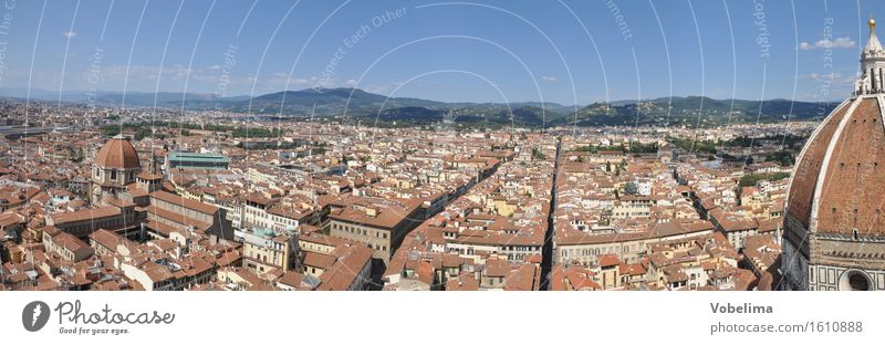 Florence Town Downtown House (Residential Structure) Dome Manmade structures Building Architecture Roof Tourist Attraction Blue Brown Yellow Gray Orange Red