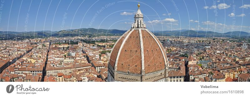 Cathedral in Florence Town Downtown Dome Architecture Tourist Attraction Blue Brown Multicoloured Yellow Gray Green Orange Pink Red White Domed roof Tuscany